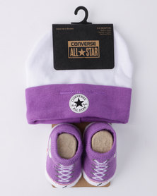 Converse CTP 2 Pack Gift Set White/ Purple