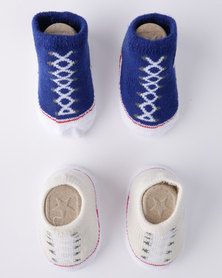 Converse Chuck Booties 2 Pack Gift Set White/ Blue