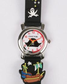 Cool Kids Boys 3D Pirate Watch Black