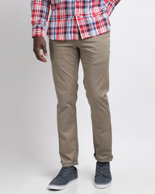 Crockett & Jones Formal Stretch Chino Taupe
