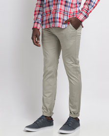 Crockett & Jones Formal Stretch Chinos Stone