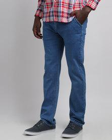 Crockett & Jones Stretch Denim Jeans Blue