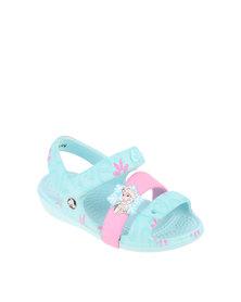 Crocs Keeley Frozen Flat Sandal Blue