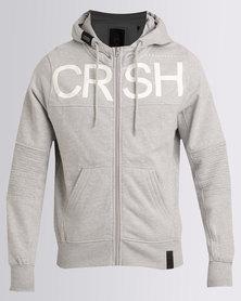 Crosshatch Cale Zip Thru Hoody Light Grey