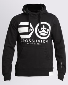 Crosshatch Ronks Logo Hoody Black