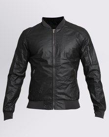 Crosshatch Pedrosa Coated Jacket Black