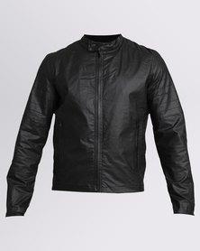 Crosshatch Agostini Coated Jacket Black