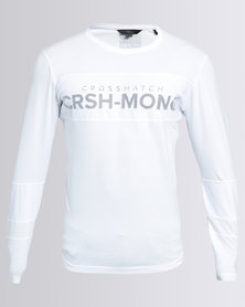 Crosshatch Tolliver Long Sleeve T-Shirt White