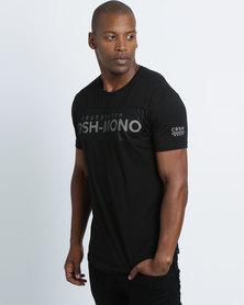 Crosshatch Maffle Mono T-Shirt Black