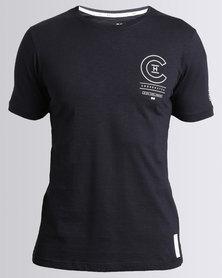 Crosshatch Bravo Slub T-Shirt Night Sky