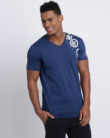 Crosshatch Mebsuta T-Shirt Estate Blue