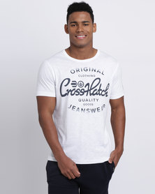 Crosshatch Retrostyle T-Shirt White