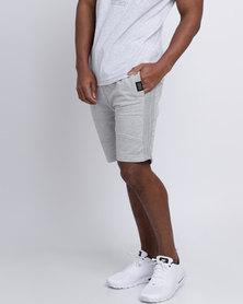 Crosshatch Conserve Shorts Grey Marl