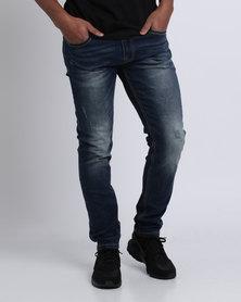 Crosshatch Lama Skinny Jeans Dark Wash