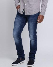 Crosshatch Svelte Slim Jeans Stone Wash
