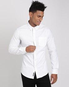 Crosshatch Almond Shirt White