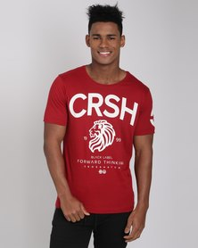 Crosshatch Aichi T-Shirt Red Dahila