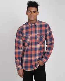 Crosshatch Aricaonica Check Shirt Red