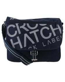Crosshatch Nabure Messenger Bag Blue