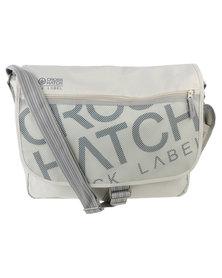 Crosshatch Nabure Messenger Bag Grey