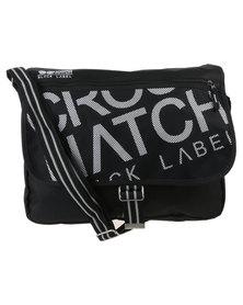 Crosshatch Nabure Messenger Bag Black