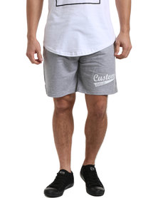 Custom League Cotton Shorts Grey Malange