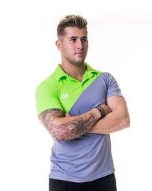 Custom Apparel Dri-Feel Golf Tee Grey Green