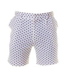 Custom Apparel Golf 4-Way Stretch Shorts Polka Dot White Black