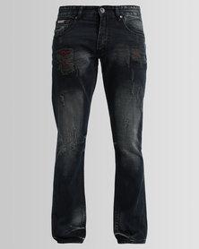 Cutty Basset Straight Jeans Black
