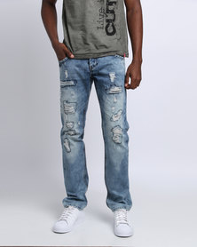 Cutty Pete Straight Jeans Blue
