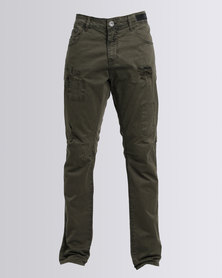 Cutty Guard Washed 5 Pocket Trouser Green
