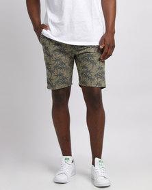 D-Struct Printed Shorts Black