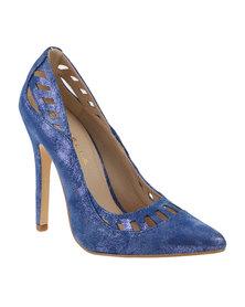 Daniella Michelle Lacy II Court High Heel Blue