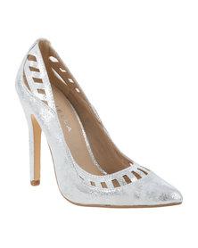 Daniella Michelle Lacy II Court High Heel Silver-tone
