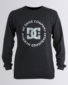 DC Pop Lock Long Sleeve T-Shirt Black