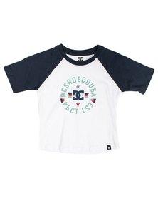 DC Tods Emblem Raglan T-Shirt White/Navy