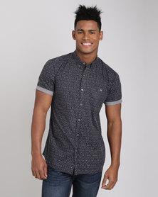 Deacon Barents Short Sleeve Shirt Navy