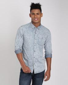 Deacon Oman Long Sleeve Shirt Blue/White