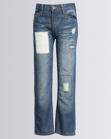 Dickies Boys Patch Carpenter Slim Denims Blue