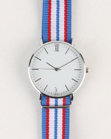 Digitime Nylon Stripe Watch Multi