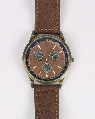 Digitime Big Case Copper Watch