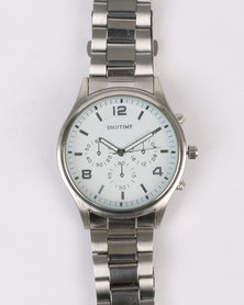 Digitime Magento Watch Silver-tone