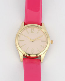 Digitime Timeless Watch Pink/Gold-tone