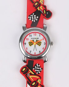 Digitime Cars Watch Red