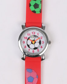 Digitime Soccer Watch Red