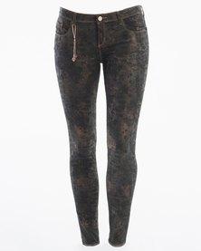 Diva Jeans Charlize Mid Rise Skinny Jeans Nebula Black