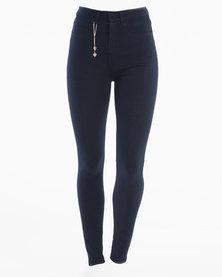 Diva Jeans Scarlett High Rise Skinny Midnight Blue