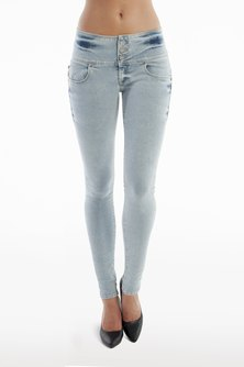 Diva Jeans Alicia Curve Fit Mid Rise Jeans Breeze Blue