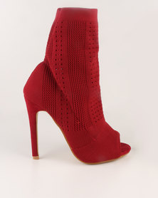 Dolce Vita Marbella Sock Knit Boot Red