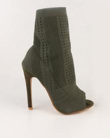 Dolce Vita Marbella Sock Knit Boot Olive
